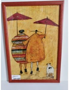 """Tableau """"couple parapluie"""""""