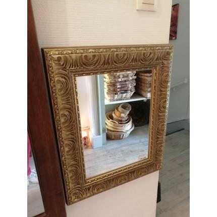 Miroir frise dorée