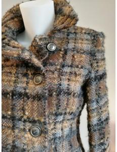 Veste double boutonnage écossais