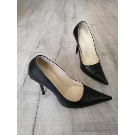 Escarpins cuir noir P39
