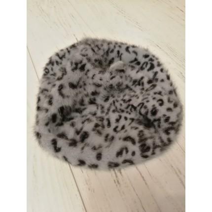 Bonnet gris moucheté noir