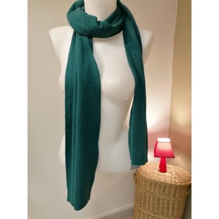 Echarpe laine et angora verte