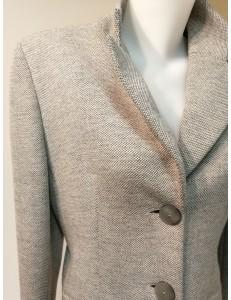 Veste 3/4 grise laine chinée