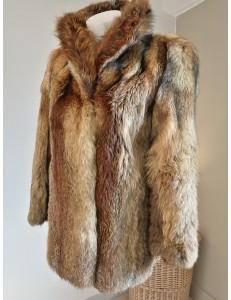 Veste en renard roux