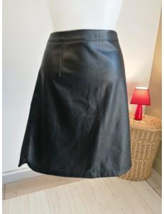 Jupe simili cuir noir