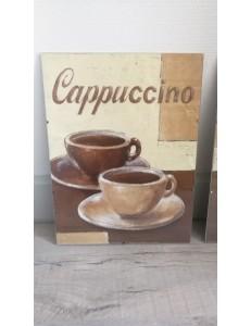 """Lot de 3 tableaux """"café"""""""