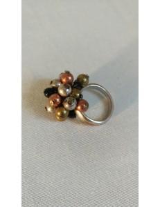 """Bague """"bouquet"""" de perles"""