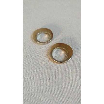 Bague double anneau inox