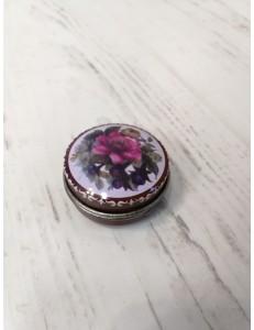 Petit pilulier fleur rose