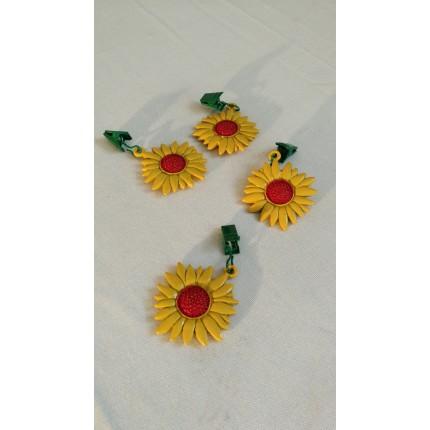 Tendeur de nappe fleur jaune